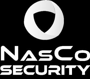 Nasco Security White Logotype